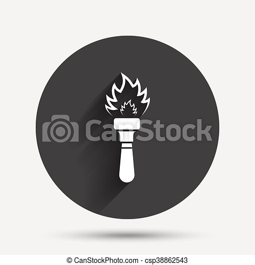 Torch flame sign icon. Fire symbol. - csp38862543
