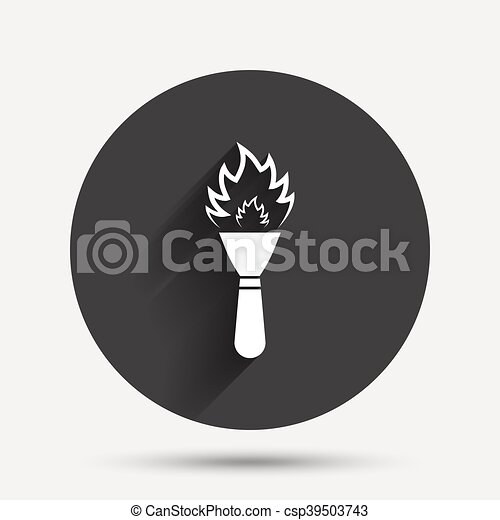 Torch flame sign icon. Fire symbol. - csp39503743