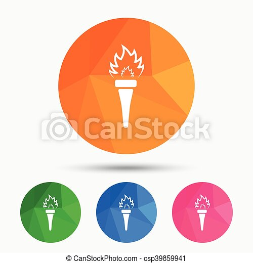 Torch flame sign icon. Fire symbol. - csp39859941