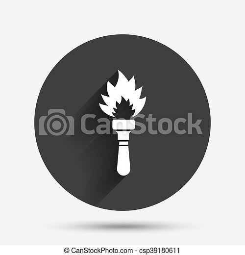 Torch flame sign icon. Fire symbol. - csp39180611