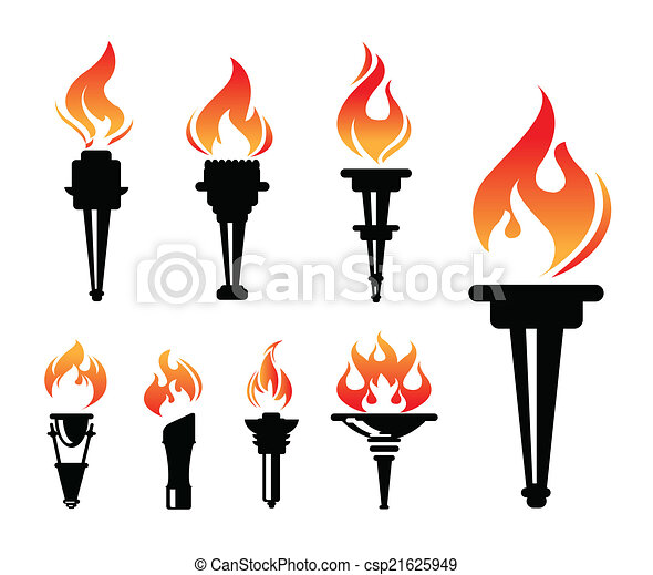 torch icons set - csp21625949