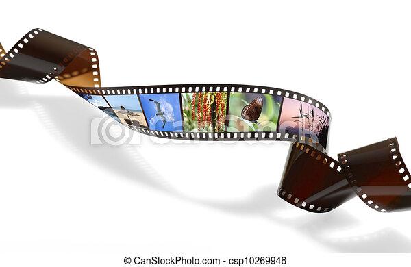 tordu, ou, vidéo, pellicule, photo, enregistrement - csp10269948