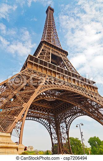 toren, eiffel, parijs, frankrijk - csp7206494