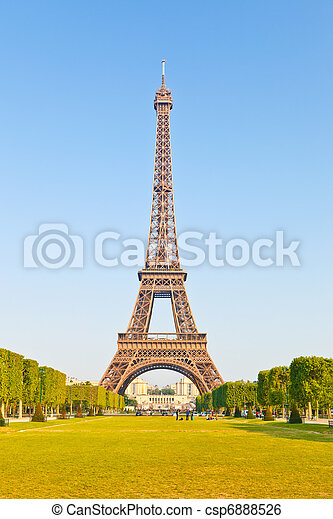 toren, eiffel - csp6888526