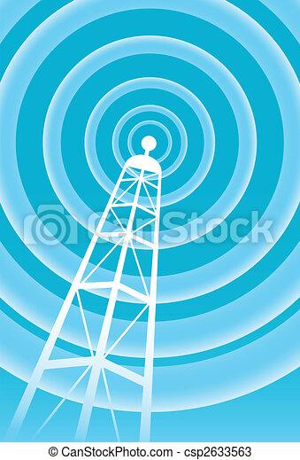 toren, radiouitzending, signaal - csp2633563