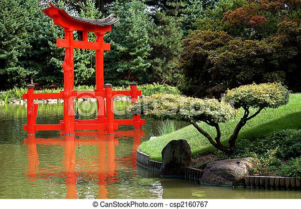 torii., 日本の庭 - csp2160767