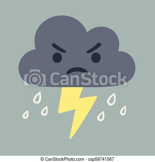 Nube de tormenta de dibujos animados - csp59741567