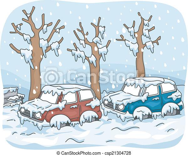 Tormenta de nieve - csp21304728