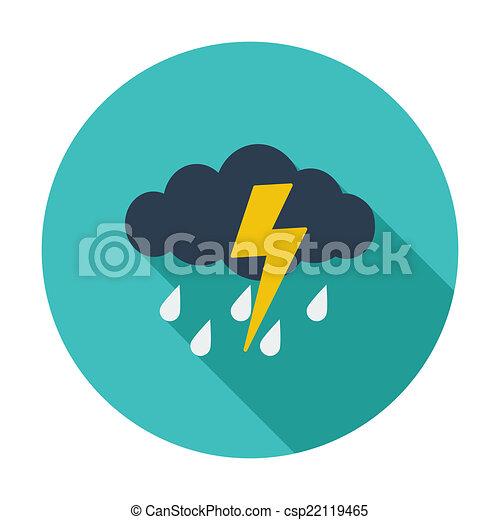 icono de tormenta - csp22119465