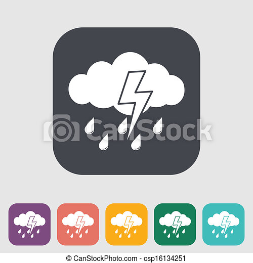 tormenta, icono - csp16134251