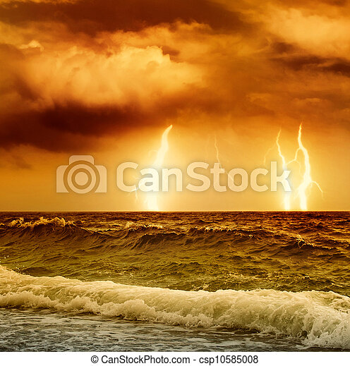 Tormenta del océano - csp10585008