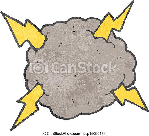 Nube de tormenta de dibujos animados - csp15090475