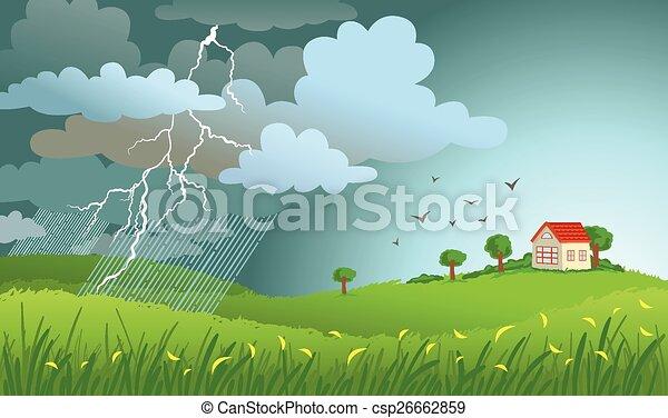 Viene una tormenta - csp26662859