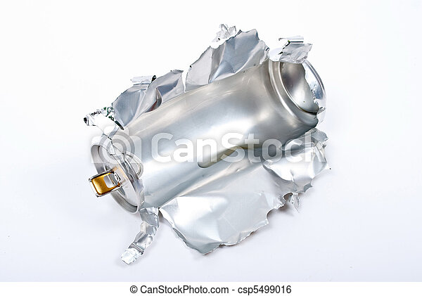 Torn aluminum can  - csp5499016