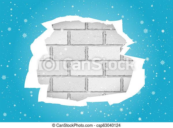 Torn Blue Wallpapers Brick Wall
