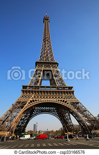 torn, eiffel, paris, france. - csp33166576