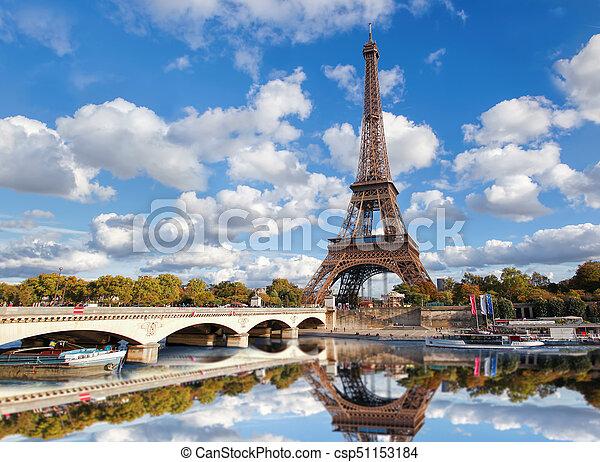 torn, eiffel, paris, frankrike - csp51153184