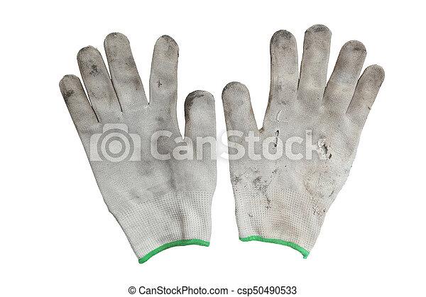 torn gloves - csp50490533