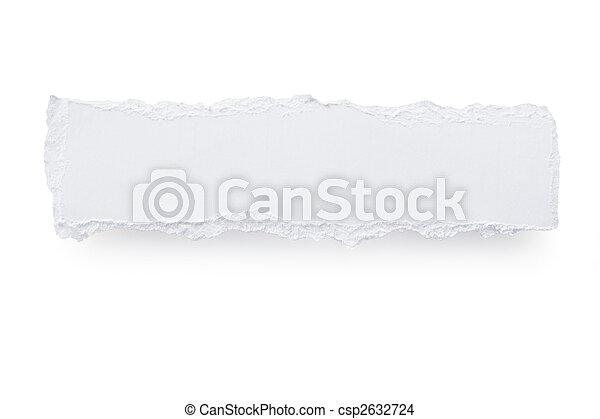 Torn Paper Banner - csp2632724