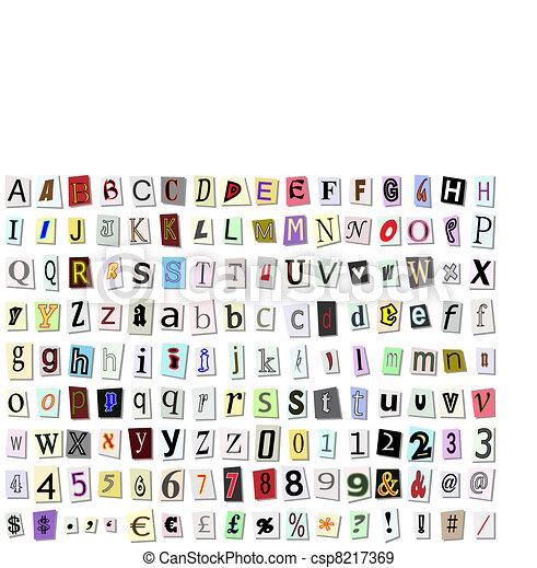 Torn paper font - csp8217369