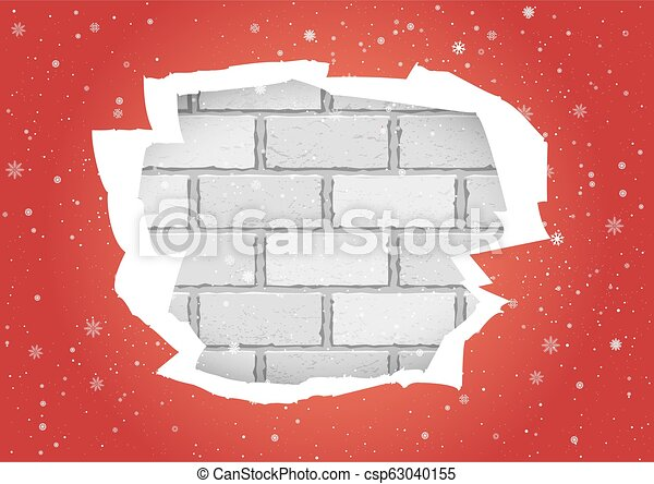 Torn Red Wallpapers Brick Wall