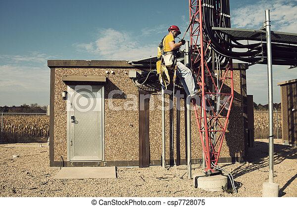 torn, startande, klättrare, väg, uppe - csp7728075
