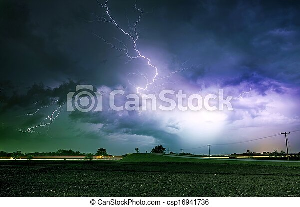 tornade, sévère, ruelle, orage - csp16941736
