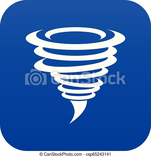 Azul icono Tornado digital - csp65243141
