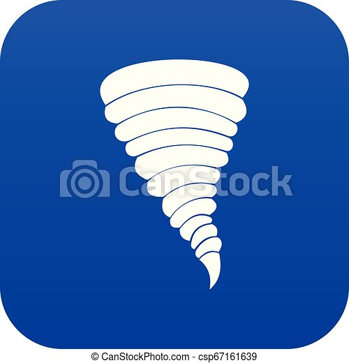 Azul icono Tornado digital - csp67161639