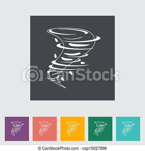 Tornado flat icon. - csp15027896