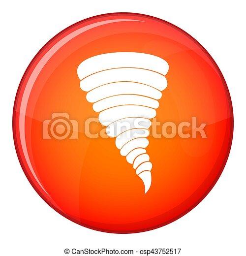 Tornado icon, flat style - csp43752517