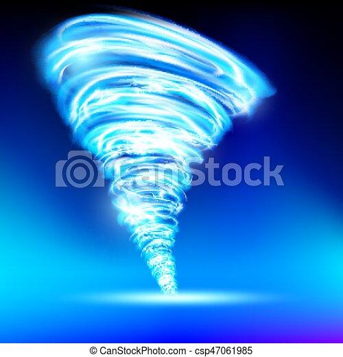 Tornado que consiste en llamas azules - csp47061985