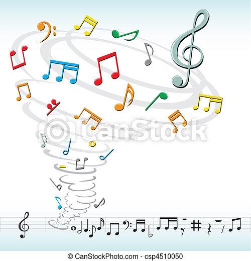tornado, notas, música - csp4510050