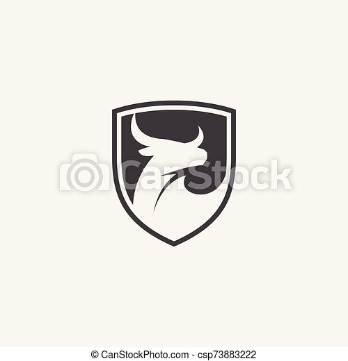 toro, protector, logotipo, icono - csp73883222