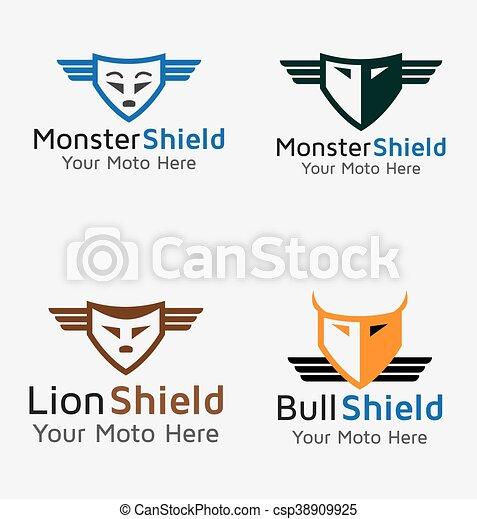 Escudo de monstruo toro - csp38909925