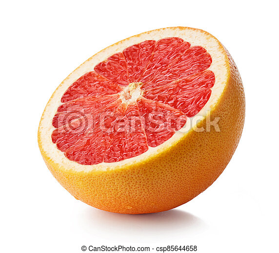 toronja, mitad, rojo, maduro - csp85644658