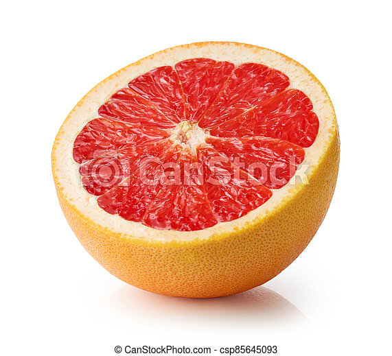toronja, mitad, rojo, maduro - csp85645093
