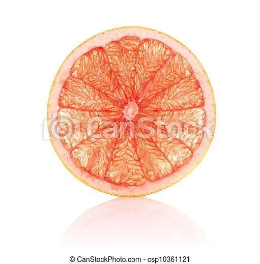 Un segmento jugoso de pomelo - csp10361121