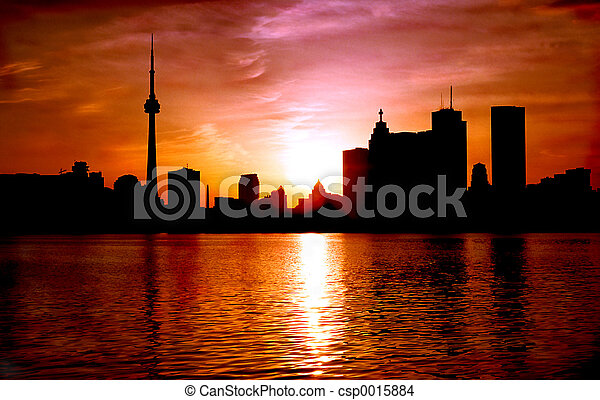 Toronto Dusk - csp0015884