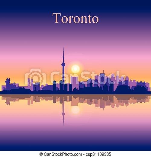 Silueta de fondo de la ciudad de Toronto - csp31109335