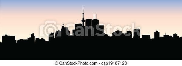 Silueta de Toronto - csp19187128