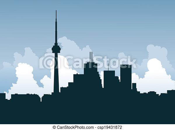 Silueta de Toronto - csp19431872