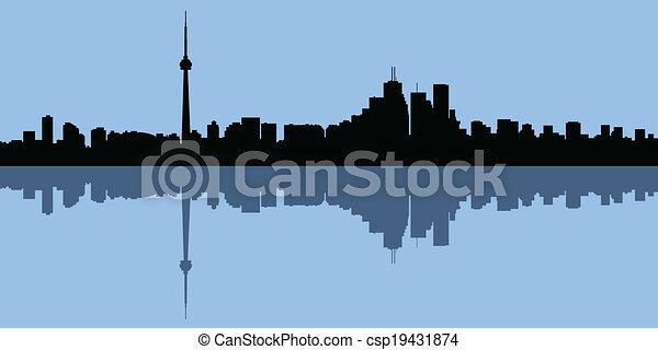 Silueta de Toronto - csp19431874