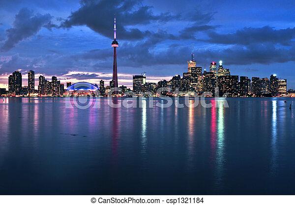 Toronto skyline - csp1321184