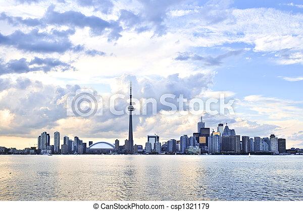 Toronto skyline - csp1321179