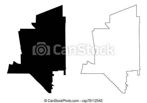 Torrance City, California (United States cities, United States of America, usa city) map vector illustration, scribble sketch City of Torrance map - csp78112542