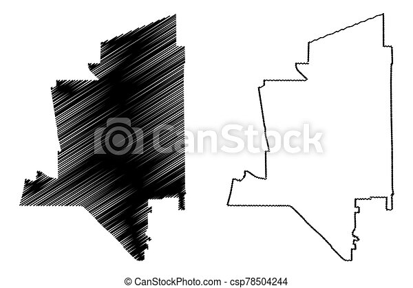 Torrance City, California (United States cities, United States of America, usa city) map vector illustration, scribble sketch City of Torrance map - csp78504244