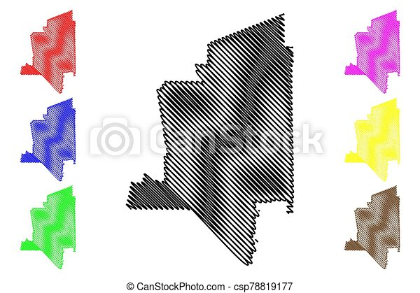 Torrance City, California (United States cities, United States of America, usa city) map vector illustration, scribble sketch City of Torrance map - csp78819177