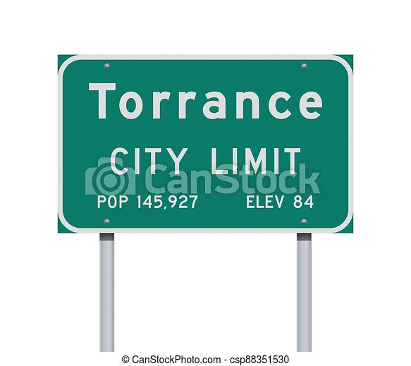 Torrance City Limit road sign - csp88351530