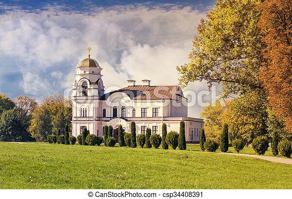El campanario de la iglesia ortodoxa. - csp34408391